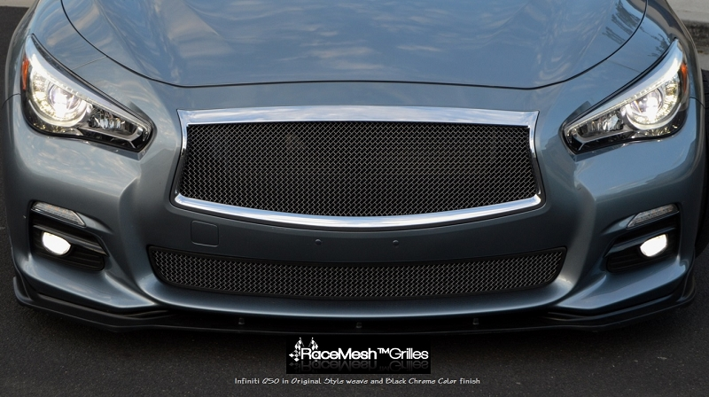 Infiniti Q50 Upper Main & Lower Valance RaceMesh Grilles ( without Adaptive Cruise Control )