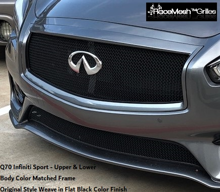Infiniti Q70S (2015-2017) Upper Main & Lower Valance (Sport Package) RaceMesh Grilles