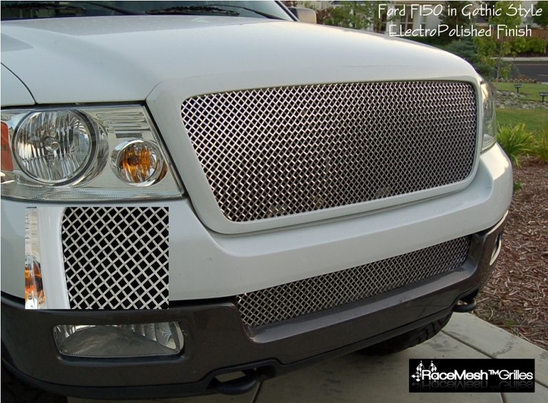 FORD F Upper Grille Lower Valance Set Gothic Style - 2005 f150