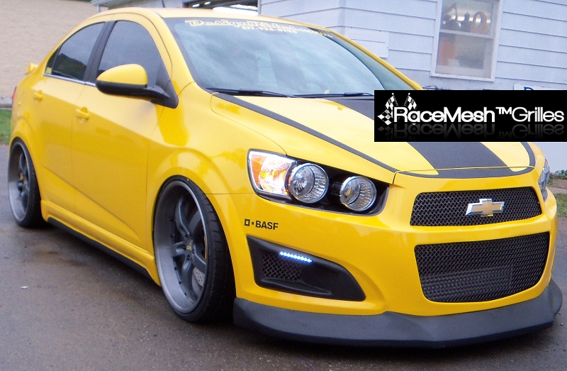 Chevy Sonic Custom >> Chevy Sonic Upper Grille Set In Original Style Weave