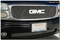 GMC Yukon Denali (2001-2006) Upper & Lower Grilles Set - Original Crimp Style Weave