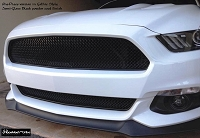 Ford Mustang S550 (2015-2017) One-Chamber Version Upper and Lower RaceMesh Grilles SET - Gothic Style weave