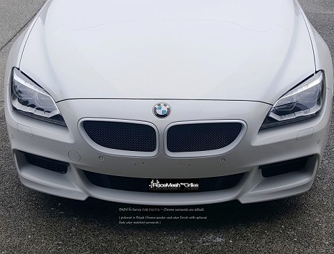 Pictured with custom white kidney grille surrounds